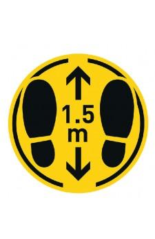 Sticker rond '1,5m afstand '20 cm